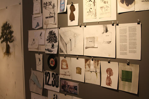 Preliminary sketches for Now Showing (2010), by Christopher Cozier