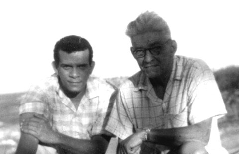 Derek Walcott and Frank Collymore