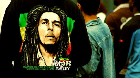 Bob Marley on a t-shirt