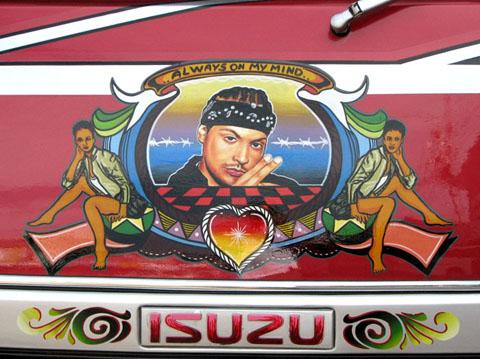 Minibus painting, Paramaribo