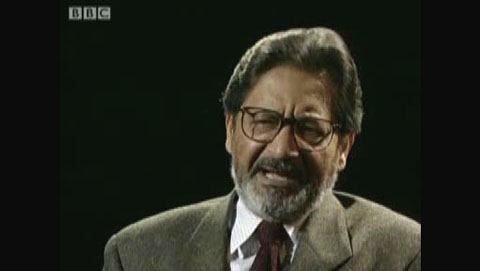 V.S. Naipaul being interviewed on BBC TV, 1994