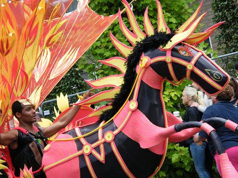 Masquerader at Notting Hill Carnival 2010