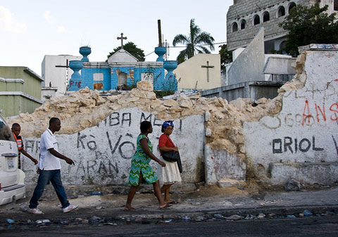 Cemetary in Petionville, Haiti, after the January 2010 earthquake