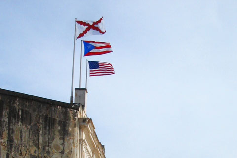 Flags over San Juan, Puerto Rico
