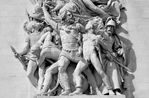 Detail of relief on the Arc de Triomphe